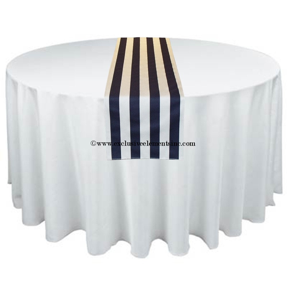 Navy Blue White Stripe Table Runner Home By Exclusiveelements