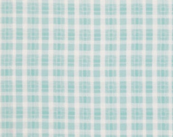 Teal Plaid Fabric Collection  by Tanya Whelan  PWTW067-Teal Rosey
