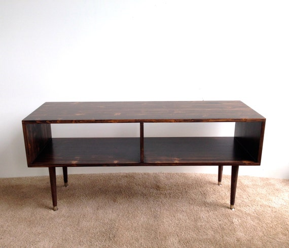 Media Table Coffee Table Mid Century Modern Tv By Tinylionsdesigns