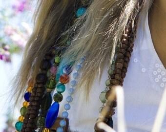 Gypsy Custom Gemstone Neckace Beautiful Stunning Mystical Intuition and Incense Love