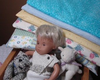 MATTRESSES and matching pillows   for dolls and teddy bears