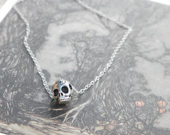 Skull Necklace , skull pendant , skull jewelry