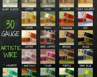 30 gauge Artistic  Wire -- SO Many Colors - 100 Percent Guarantee