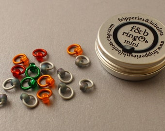 ringOs Mini Stormy Weather - Snag-Free Ring Stitch Markers for Sock Knitting