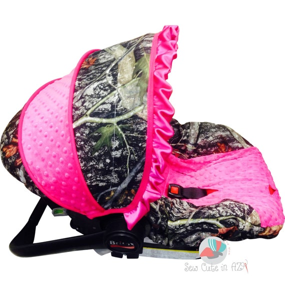 Camo With Hot Pink Infant Car Seat Cover