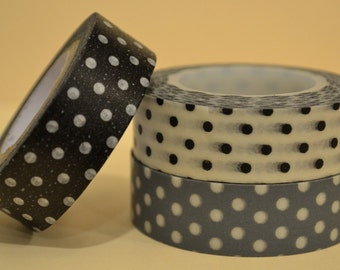 Black, White & Gray Dots Washi (SC15-131)
