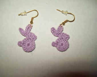 crochet bunny earrings perfect for Easter or anytime you need to smile