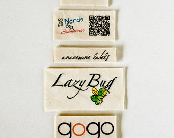 Natural Fabric Labels - custom clothing tags (sewing and knitting tags)