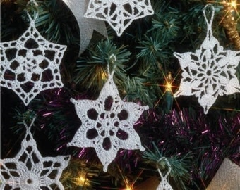 Christmas Snowflakes - Hand Crochet - Set of 6