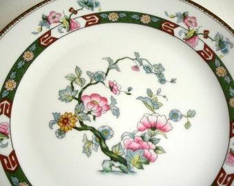Noritake China  Rosewood Pattern  Circa 1920  Dinner Plate -  Vintage China Dinnerware Shabby Cottage