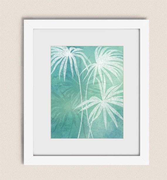 Tropical Wall Art Beach Home Decor 11 X 14 Palm Tree Leaves