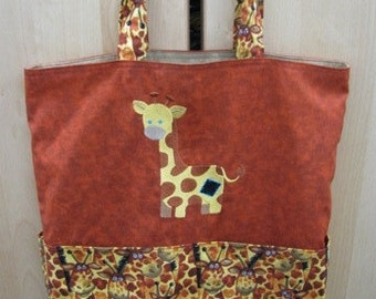 Cute Giraffe Tote Bag Shopping Bag Diaper Bag
