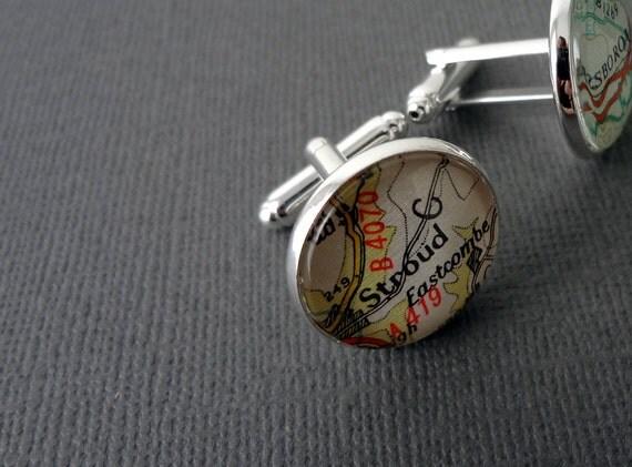 Personalized Cufflinks, Mens Accessories, Custom UK Cufflinks, Husband Gift