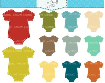 ON SALE onesie clip art - Digital clipart  for all use,  onesies, instant download clip art