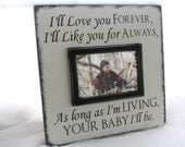 Wall Mount Picture Frame-I'll Love you Forever, I'll Like you for Always Bride's Parents Gift, Son/Daughter Grandparent Mother's Day 12X12