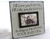Wall Mount Picture Frame-I'll Love you Forever, I'll Like you for Always-4x6 photo Bride's Parents Gift, Son/Daughter/Baby Grandparent 12X12