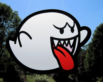 Super Mario Brothers Boo - Vellum Suncatcher