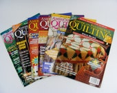 American Patchwork & Quilting Magazines 1996 lot of 6 sewing and craft magazines