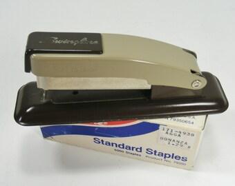 Swingline Stapler Two Tone Brown All Metal Vintage Stapler