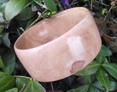 Wood Bangle Bracelet - Eco-friendly Wood Wooden Bangle Bracelet (Size S) - Natural Jewelry Gift or 5-Year Anniversary Gift