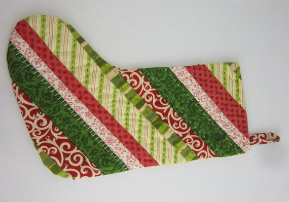 Handmade Quilted Christmas Stocking By Phorijennals On Etsy