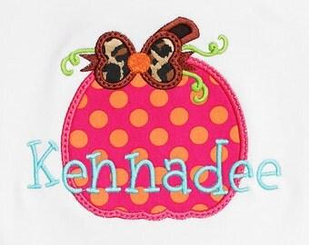 Girls' Pumpkin Shirt, Thanksgiving Shirt, Halloween Shirt, Monogrammed Pumpkin Shirt, Girls Thanksgiving Shirt, Custom, Free Personalization