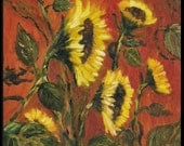 Sunflowers II -   Original Floral Oil painting