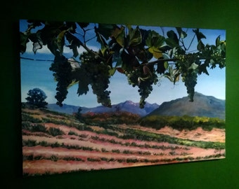 Napa Valley Grapes - 36x24in Original Oil Painting