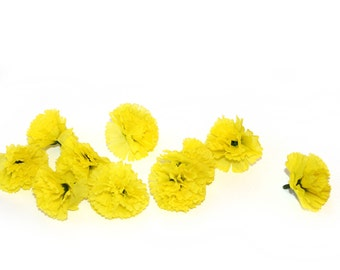 100 Bright Yellow Baby Carnations - Artificial Flowers - PRE-ORDER