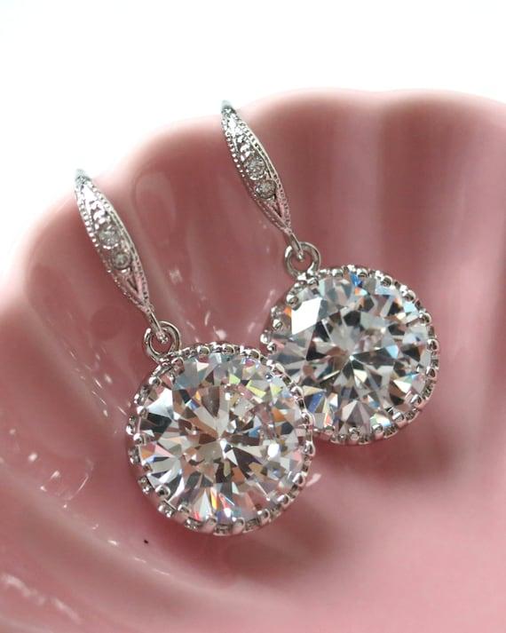 Pamela Simple Cubic Zirconia Drop Earrings gifts by ...