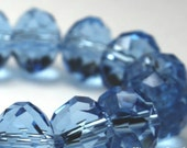 "Sky Blue Chinese Crystal Faceted Rondelles 8 mm, 8"" strand"