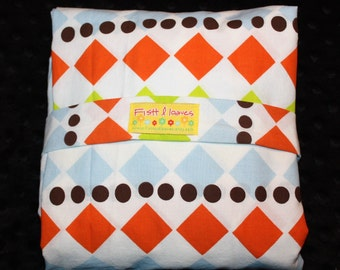 Diamond Fitted Crib Sheet- IKEA Diamond Fabric- Baby Bedding- Baby Shower Gift- Toddler Fitted Sheet