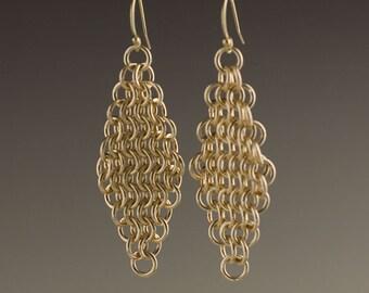 14k Gold Filled Mesh Earrings - size 7