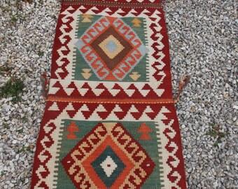 5 ft 1 x 2 ft  Bright Chobi Hand woven  Uzbek Rug/Kilim or Cushions.152 cm x 56 cm.