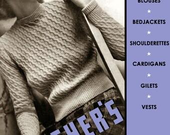 Fleisher's #49 c.1937 - Vintage Hand Knitting Patterns - Women's Blouse Book (PDF Ebook DIgital Downlaod) Plus Bonus Pages!