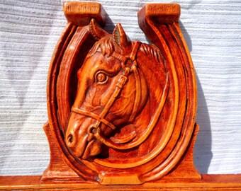 Mid Century Horseshoe and Horse Tie Rack