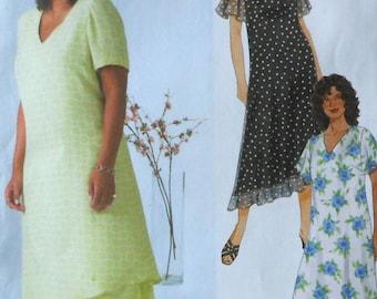Plus Size Dress Sewing Pattern UNCUT McCalls M4397 Sizes 18w-24w