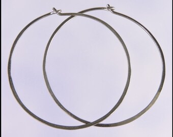 Medium 18 gauge niobium hoop earrings: 1 and a half inch diameter