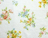 nude wildflowers, a vintage sheet fat quarter