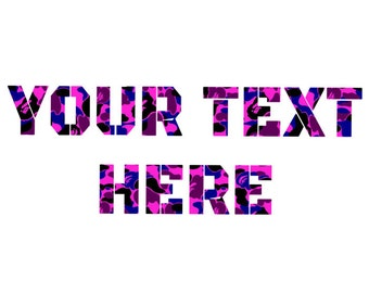 YOUR TEXT Here Custom Blue Purple Camo Tshirt Customize to All Sizes and Colors - TShirt , Vneck, Tank Top