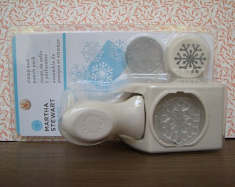 Martha Stewart Craft Punch and Stamp Set - Snowflake - Paper crafting - Scrapbooking - Tags - Cards - DIY - Handmade - Papercrafts