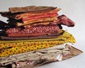 Brown Fabric Bundle - Quilter's Stash - Fabric Destash