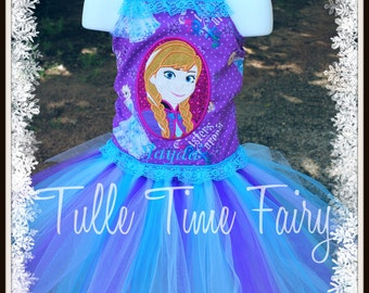 Frozen Anna Sister corset birthday tutu dress Any size 12 months 18 months 2t 3t 4t 5t 6 7