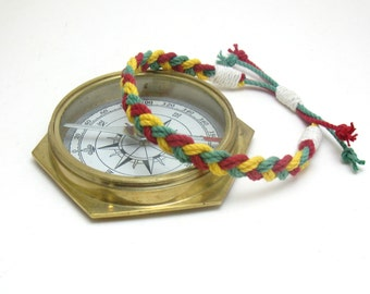 Rasta Anklet Red, Yellow and Green  Braided Cotton Anklet Reggae look for your ankle