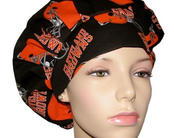 Scrub Hats - Cleveland Browns Fabric