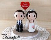 2.5 inches Customise Wedding Cake Topper with Heart Message