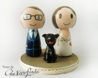 "Customize 2.5"" Wedding Cake Topper with pet"