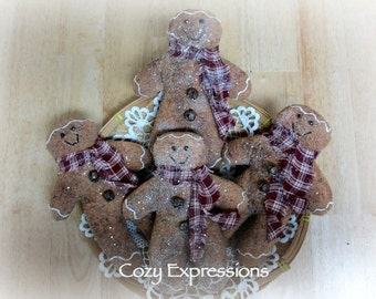Handmade Fabric Gingerbread Men | Holiday Decor | Gingerbread man | Gingerbread doll | Christmas ornament | Christmas decoration |