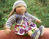 Waldorf doll Nicol 16 in,  stylable  hair eco friendly gifts for kids, cloth doll waldorf