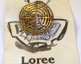 Vintage Loree gold tone scarf clip